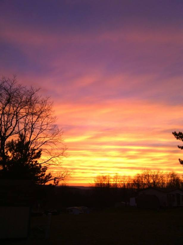 Sunset in Windber, PA: United States 4-19-2014