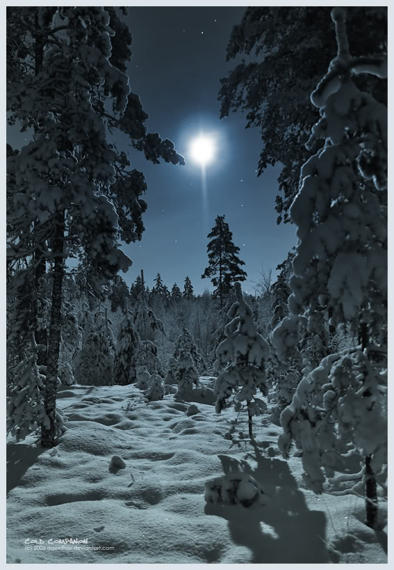 Blue winter moon