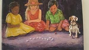 kids playing jacks